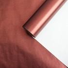 Бумага для декорирования, RIBBED, металлизированная, шоколадный, 0,7 х 10 м