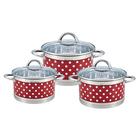 Набор посуды Rainstahl 2,1 л, 2,9 л, 3,9 л, красный цвет