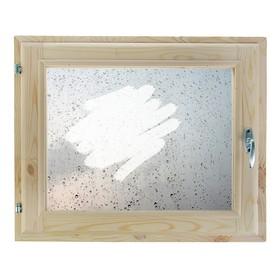 Окно, 40х60см, Декор 1, двойной стеклопакет (хвоя) Добропаровъ Ош