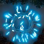 """Гирлянда """"Нить"""" с насадками """"Звёздочка"""", 5 м, LED-50-220V, 8 режимов, нить прозрачная, свечение аквамарин 2361618"""