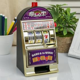 """Копилка пластик """"Игровой автомат"""" от 2АА, 21,5х12,5х10,2 см"""
