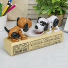 """Piggy Bank plastic """"there are Two doggie eat coin"""" from 3B sound 13,5х24,5x7 cm"""