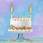 """Набор свечей в торт """"С Днём Рожнения"""", буквы микс + 2 фонтана"""