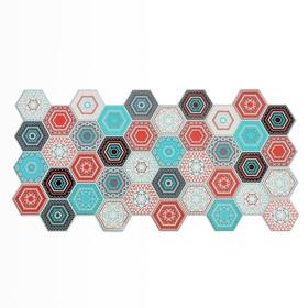 Панель ПВХ Граненый шестигранник Лагом 492*973*0,2мм Ош