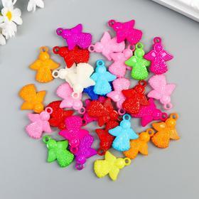 """Декор для творчества пластик """"Ангелочки"""" цветные набор 30 шт 3х2,5 см"""