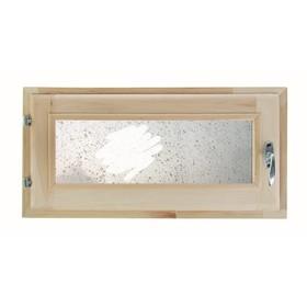 Окно 30х60см, Декор 1, двойной стеклопакет  Добропаровъ Ош