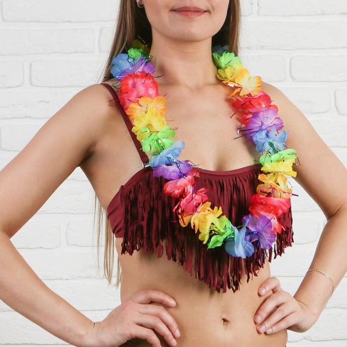 """Гавайское ожерелье """"Разноцветные цветы"""""""