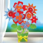 """Букет из фетра, набор для создания """"Цветы в горшочке"""""""