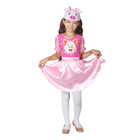 """Костюм  для девочки""""Хрюшка Фифа"""":платье, шапка, пояс рост 98-104"""