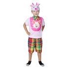 "Костюм  для мальчика""Хрюша""шапка,куртка,бабочка,шорты рост 98-104"