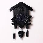 Часы настенные с кукушками черные 30*34см пластик  УЦЕНКА