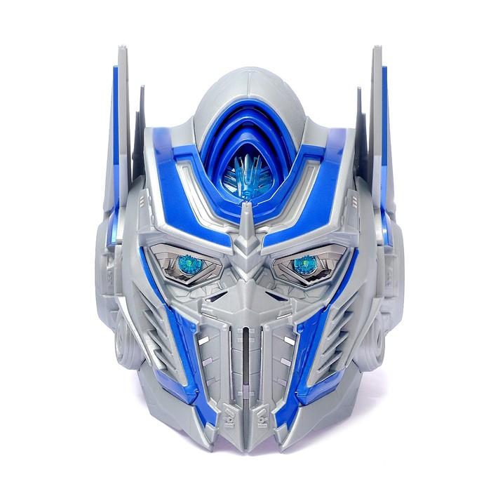 Шлем трансформера «Автобот Оптимус», преобразование голоса, световые эффекты, работает от батареек - фото 14370691