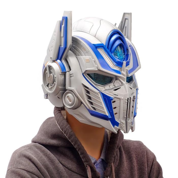 Шлем трансформера «Автобот Оптимус», преобразование голоса, световые эффекты, работает от батареек - фото 14370690