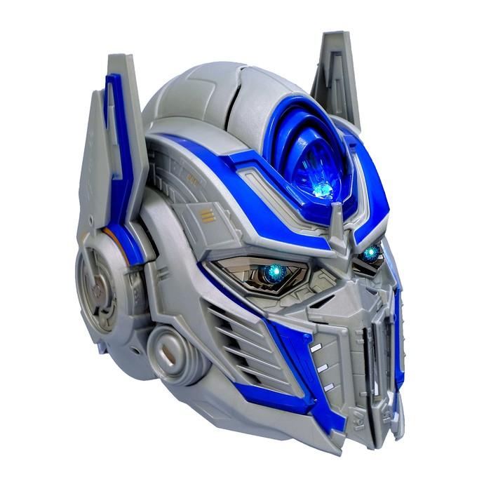 Шлем трансформера «Автобот Оптимус», преобразование голоса, световые эффекты, работает от батареек - фото 14370695