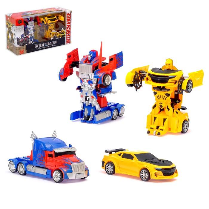 Игровой набор «Трансформеры Автоботы» с инерционным механизмом, 2 шт