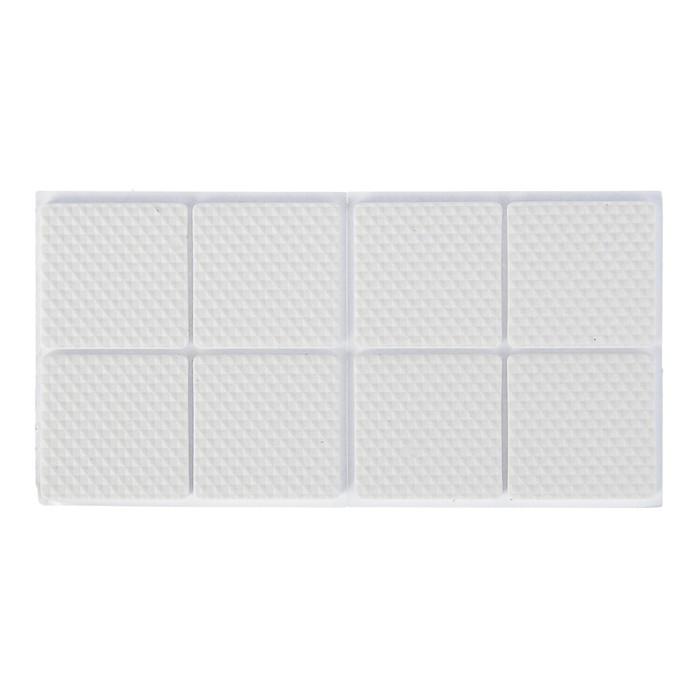 Накладка мебельная квадратная TUNDRA, размер 38 х 38 мм, 8 шт, полимерная, цвет белый - фото 702167496