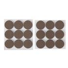 Накладка мебельная круглая TUNDRA comfort, D = 25 мм, 18 шт, полимерная, цвет коричневый