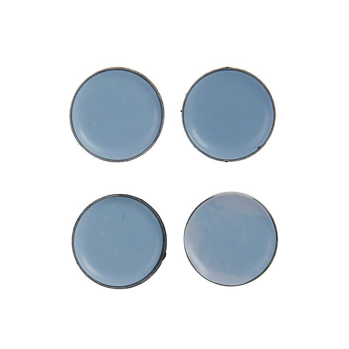 Накладка мебельная круглая TUNDRA comfort, D = 30 мм, 4 шт, полимерная, цвет серый