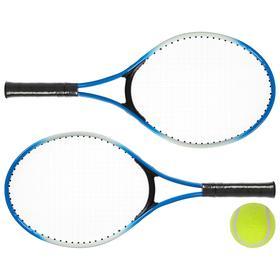 Ракетки для большого тенниса с мячом, детские, цвет синий
