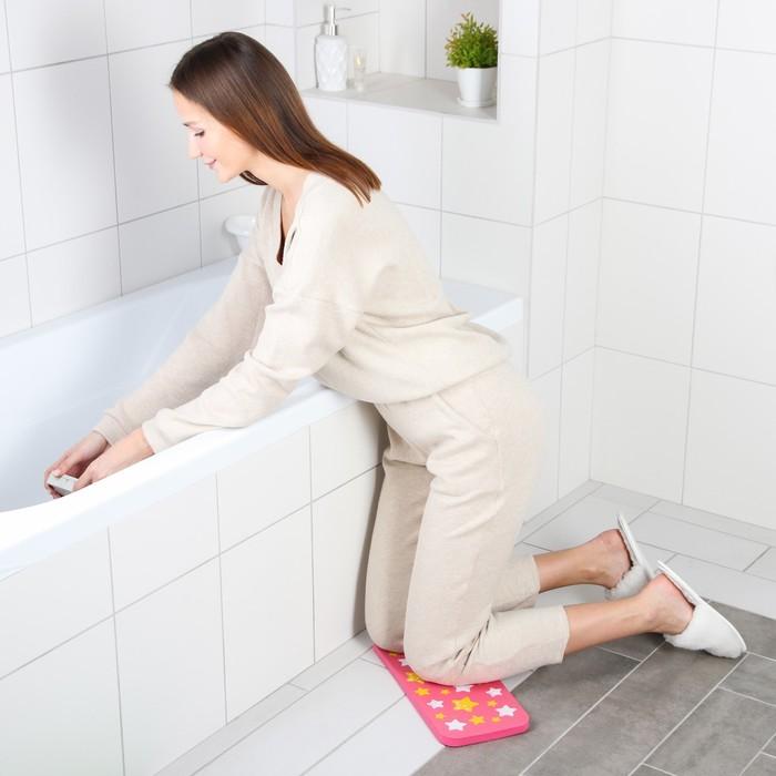 Коврик для коленей «Звёзды» в ванну, размер 39×17,5 см