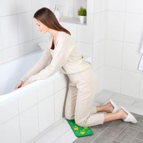 Коврик для коленей «Листья» в ванну, размер 39×17,5 см