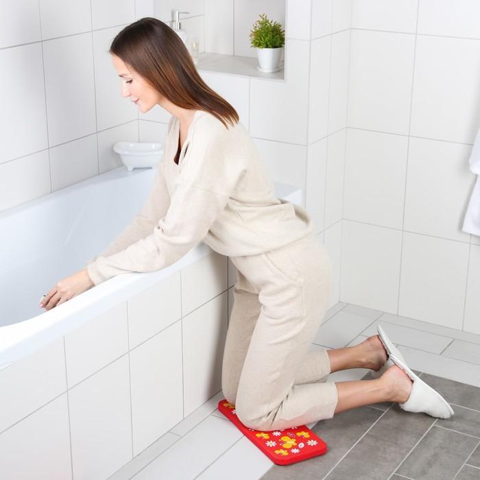 Коврик для коленей «Бабочки» в ванну, размер 39×17,5 см