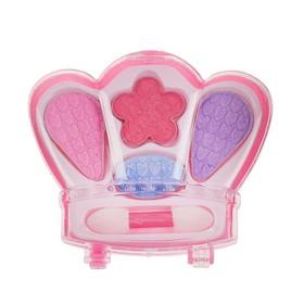 Набор косметики для девочки 'Корона' тени 4 цвета, аппликатор.МИКС Ош