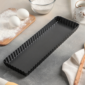 Форма для выпечки «Жаклин», 35×11×2,5 см, съёмное дно, антипригарное покрытие