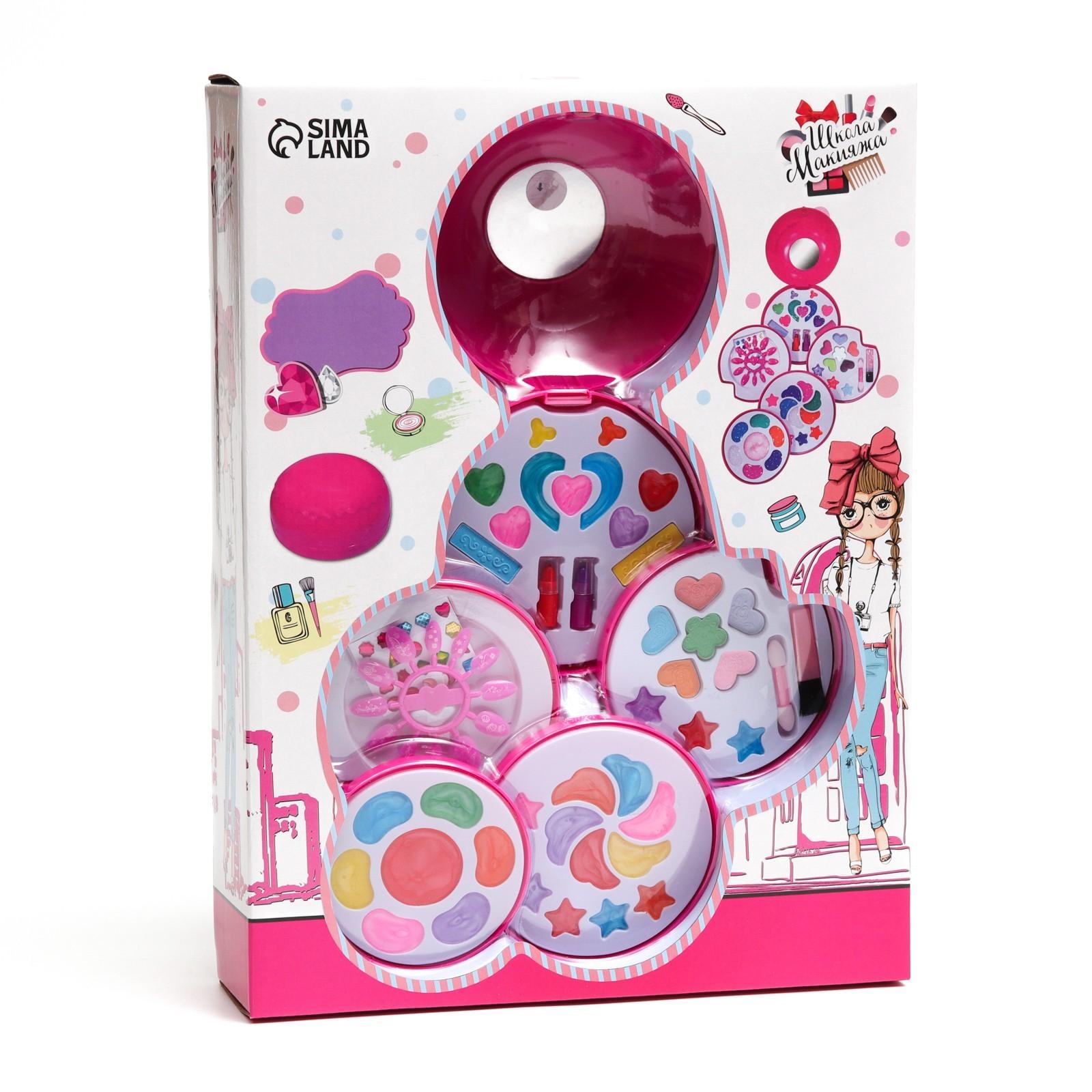 da7a527da Набор для девочек Большой круг ( 28 блесков для губ, 12 пласт ногтей ...