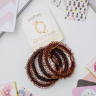 "Elastic band for hair ""Loops"" (price per piece) brown"