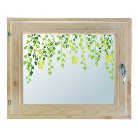 Окно, 40х60см, Декор 2, двойной стеклопакет (хвоя) Добропаровъ Ош