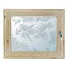 """Окно 40х60 см, """"Морозные узоры"""", двойной стеклопакет, хвоя, """"Добропаровъ"""""""