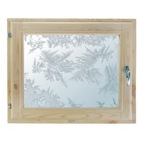 Окно, 40х60см, Декор 5, двойной стеклопакет (хвоя) Добропаровъ Ош