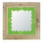"""Окно 40х60 см, """"Кленовые листья"""", двойной стеклопакет, хвоя, """"Добропаровъ"""""""