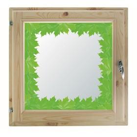 Окно, 40х60см, Декор 6, двойной стеклопакет (хвоя) Добропаровъ Ош