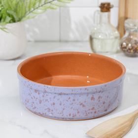 Форма для запекания Ломоносовская керамика, 800 мл, цвет сиреневый
