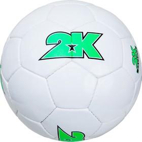 Мяч футбольный 2K Sport Advance white/green, размер 5