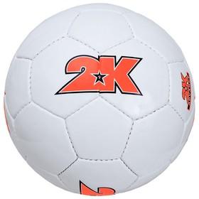 Мяч футбольный 2K Sport Advance white/orange, размер 5