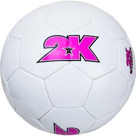 Мяч футбольный 2K Sport Advance white/violet, размер 5