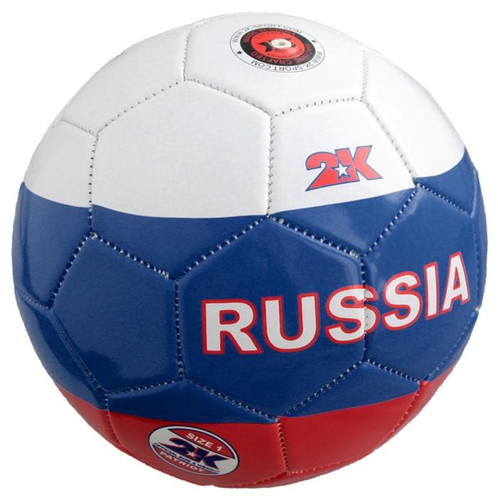 Мяч сувенирный 2K Sport Patriot white/navy/red, размер 1