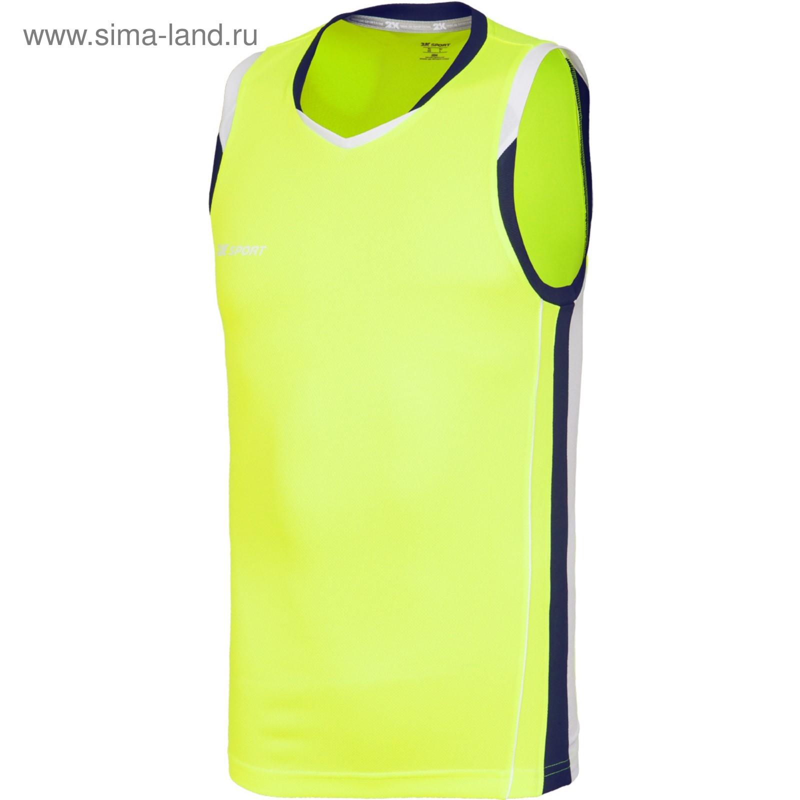 7b40d6bc Баскетбольная игровая майка 2K Sport Advance neon-lemon/navy/white ...