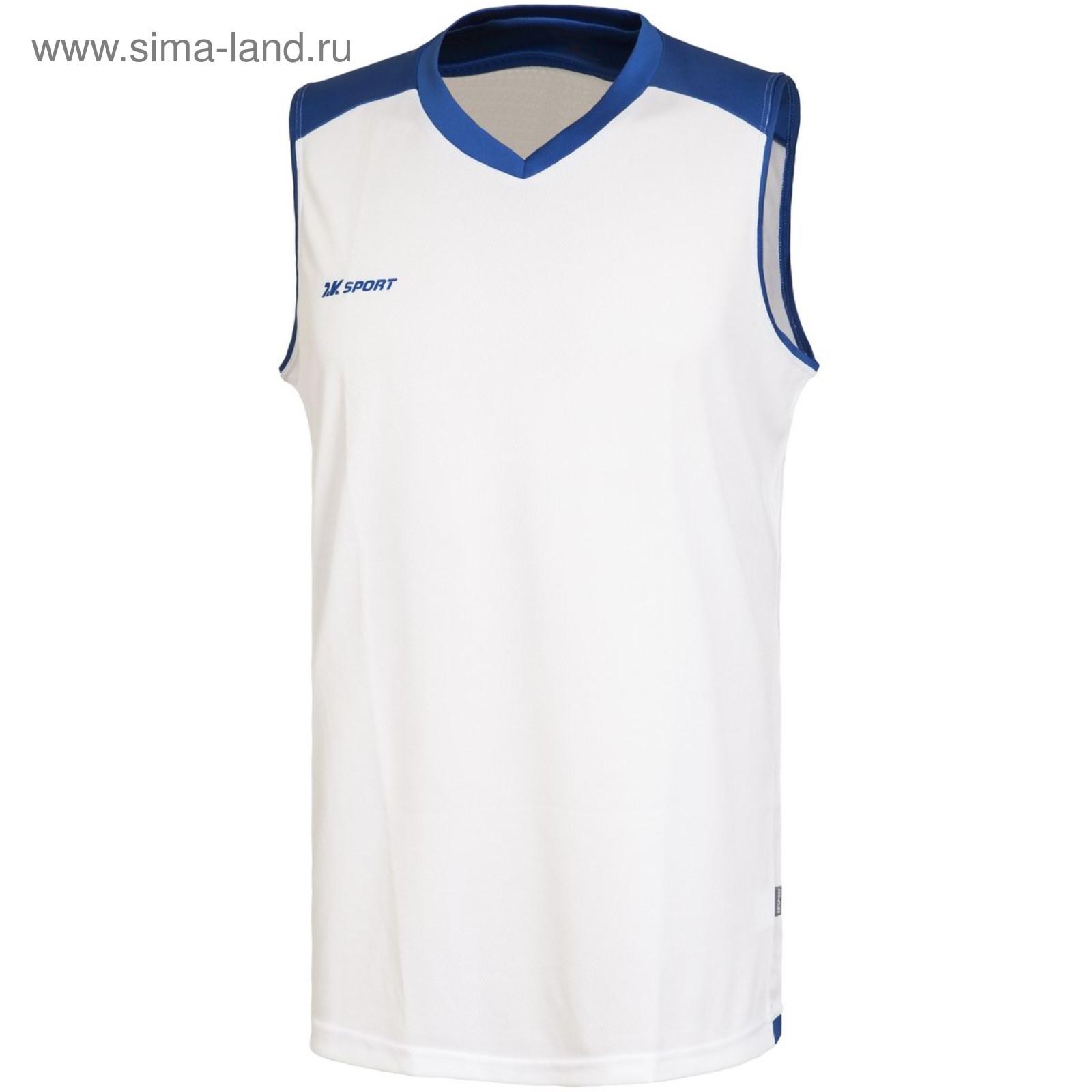 8f66c5ae Баскетбольная игровая майка 2K Sport Rebound white/royal, XS ...
