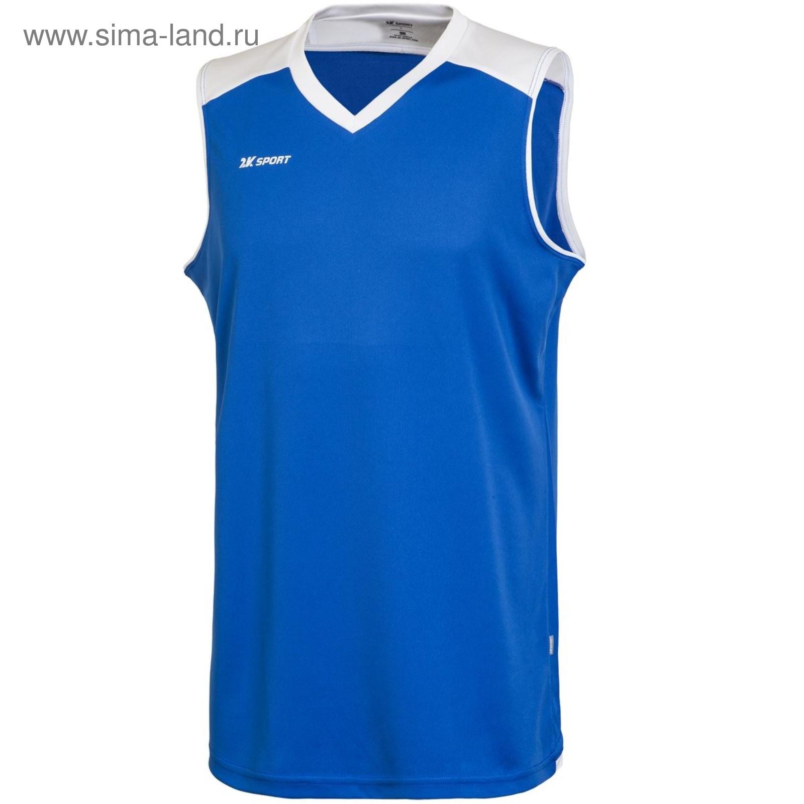 c68cf3e5 Баскетбольная игровая майка 2K Sport Rebound royal/white, M (3944207 ...