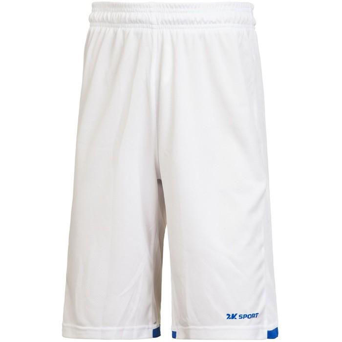 Баскетбольные игровые шорты 2K Sport Rebound white/royal, XXL