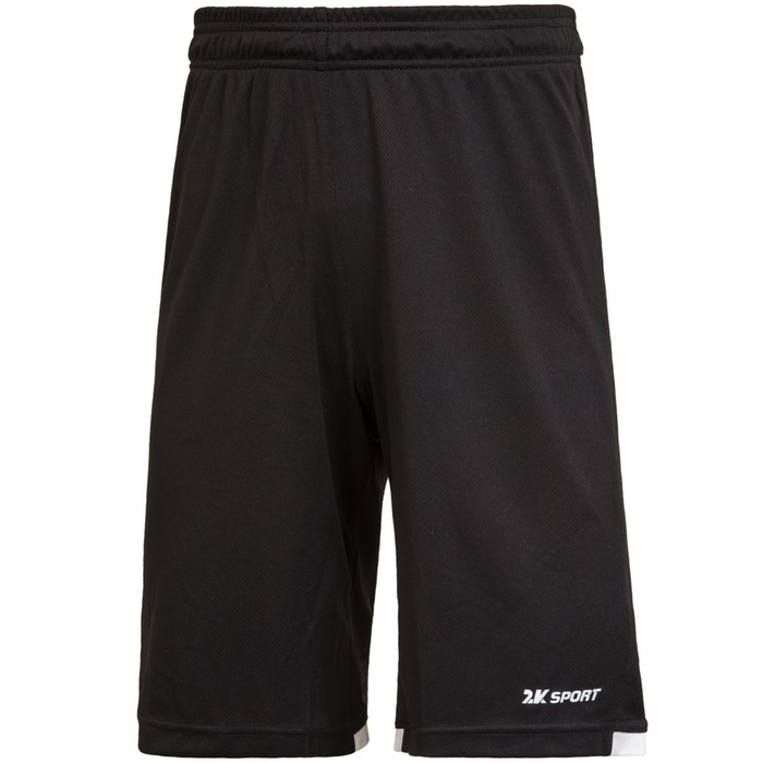 Баскетбольные игровые шорты 2K Sport Rebound black/white, S