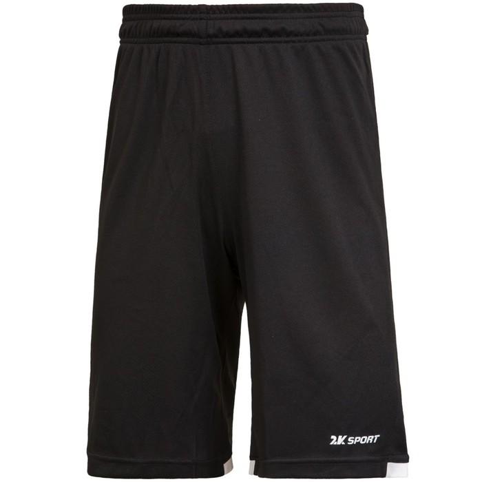 Баскетбольные игровые шорты 2K Sport Rebound black/white, XS