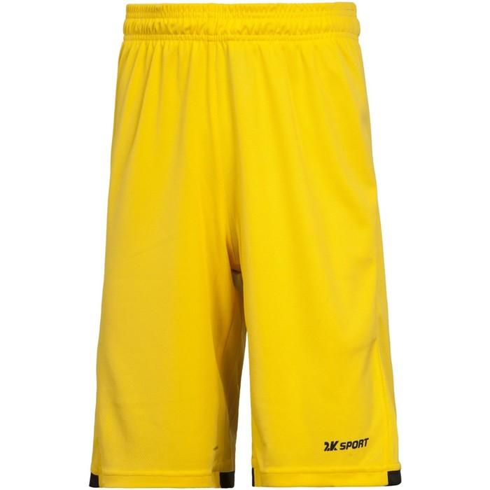 Баскетбольные игровые шорты 2K Sport Rebound yellow/black, S