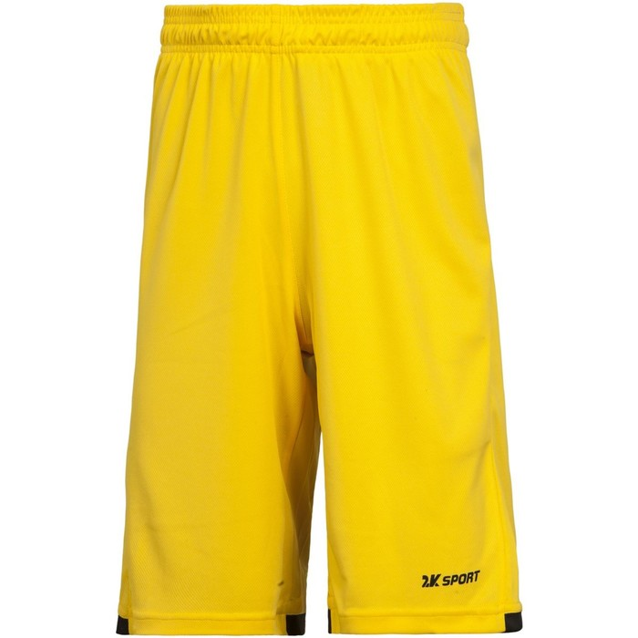 Баскетбольные игровые шорты 2K Sport Rebound yellow/black, XL