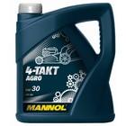 Масло моторное MANNOL 4T AGRO SAE 30, 4л
