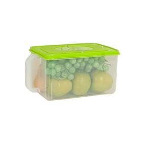 Контейнер для холодильника с ручкой, зеленый